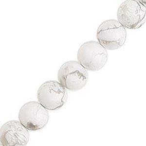"Picture of White Howlite Round Bead 6mm 16"" Strand"