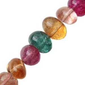 "Picture of Colored Crystal Pebble 16"" Strand"