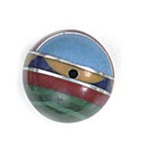 Picture of Imitation Block Inlay Round Bead 10mm