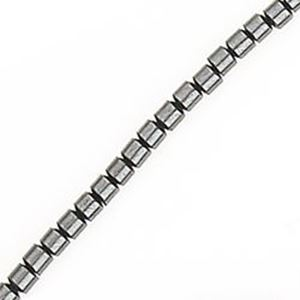 "Picture of Hematine Drum Bead 2mm, 16"" Strand"