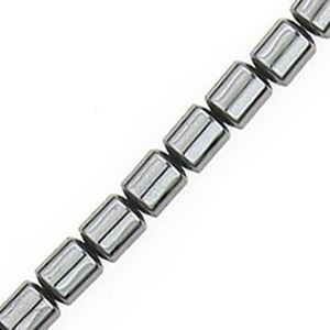 "Picture of Hematine Drum Bead 4mm, 16"" Strand"
