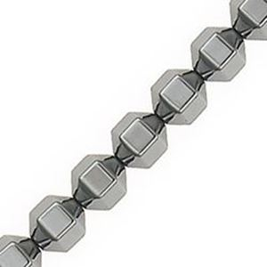 "Picture of Hematine 18 Sided Faceted Bead 6mm 16"" Strand"
