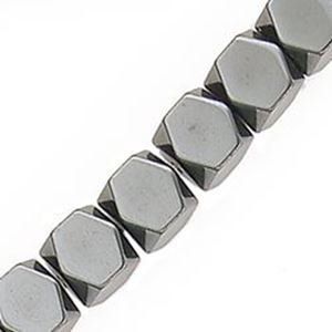"""Picture of Hematine 8 Sided Faceted Bead 6mm 16"""" Strand"""