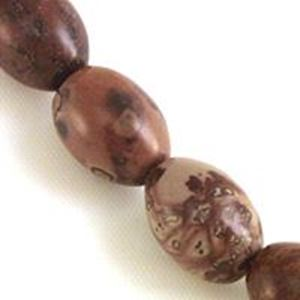 """Picture of Melon Red Picture Agate Bead 10x14mm 8"""" Strand"""