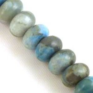"""Picture of Rondelle Dyed Turquoise Jasper Bead 8mm 8"""" Strand"""