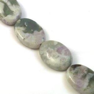 """Picture of Oval Peace Stone Bead 13x18mm 8"""" Strand"""