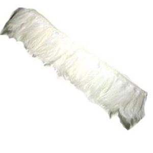 "Picture of Natural Hackle White Fringe 4-5"" x 36"""
