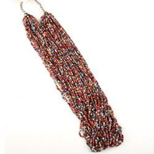 Picture of Multi Color Multi Strand Seed Bead Necklace