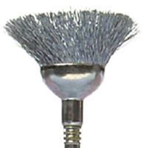"""Picture of Cupped Carbon Steel Brush 442, 1/2"""" Diameter"""