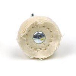 """Picture of Muslin Buff Wheel 1"""", mounted on a 3/32"""" Steel Shank"""