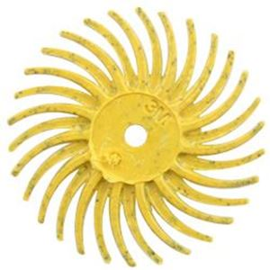 """Picture of 3M Radial Bristle Yellow Disc, 80 Grit, 3/4"""""""