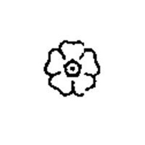 """Picture of 1/4"""" Stamp #M39 Daisy"""