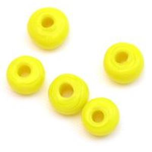 Picture of Opaque Yellow Glass Crow Beads 6mm<br />100 Beads