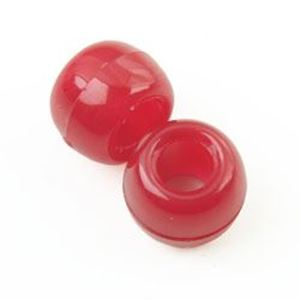 Picture of Plastic Burgundy Opaque Crow Beads 9x6mm<br />100 Beads