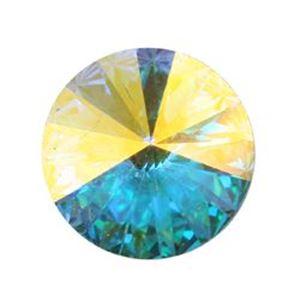 Picture of Swarovski Crystal Aurora Borealis Rivolis 12mm