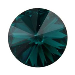 Picture of Swarovski Emerald Rivolis 14mm