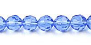 """Picture of Dark Blue Czech Style Bead 6mm 16"""" Strand"""
