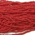 Picture of Medium Dark Red Cut Seed Bead #82 Size 13