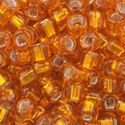 Picture of Silverlined Orange Seed Beads #9 / Size #6<br />Approximately 25 ~        Grams