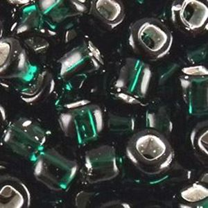 Picture of Silverlined Dark Green Seed Beads #16A / Size #6<br />Approximately ~        25 Grams