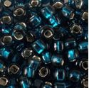 Picture of Silverlined Dark Teal Seed Beads #17B / Size #6<br />Approximately 25 ~        Grams