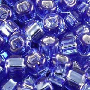 Picture of Silverlined Montana Blue Seed Beads #19 / Size #6<br />Approximately ~        25 Grams