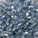 Picture of Silverlined Ice Blue Seed Beads #19C / Size #6<br />Approximately 25 ~        Grams