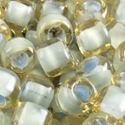 Picture of Pale Topaz Colorlined Seafoam Seed Bead #374G / Size 6<br ~        />Approximately 25 Grams
