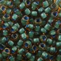 Picture of Topaz Colorlined Seafoam Seed Bead #399F / Size 6<br />Approximately ~        25 Grams