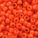 Picture of Opaque Red Orange Seed Bead #406 / Size 6<br />Approximately 25 ~ Grams