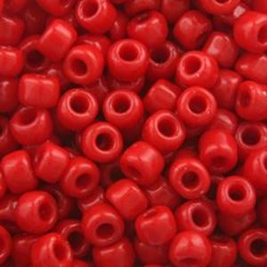 Picture of Opaque Red Seed Bead #408 / Size 6<br />Approximately 25 ~        Grams