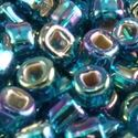 Picture of Silverlined Peacock Green Aurora Borealis Seed Beads #643 / Size 6<br ~        />Approximately 25 Grams