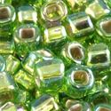 Picture of Silverlined Chartreuse Aurora Borealis Seed Beads #643A / Size 6<br ~        />Approximately 25 Grams