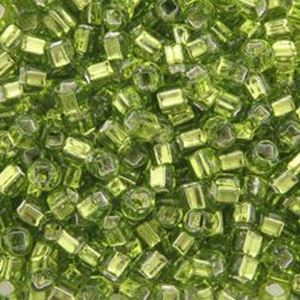 Picture of Silverlined Chartreuse Seed Bead #14 / Size 8<br />Approximately 25 ~        Grams