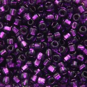 Picture of Silverlined Violet Seed Beads Color #27 / Size #8<br />Approximately ~        25 Grams