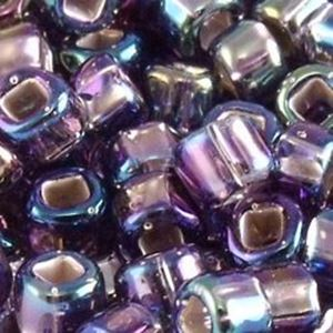 Picture of Size 8 Japanese Seed Beads, Silver-lined Amethyst Aurora ~ Borealis(#639), Approximately 25 Grams