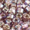 Picture of Size 8 Japanese Seed Beads, Silver-lined Light Amethyst Aurora ~ Borealis (#640), Approximately 25 Grams