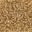 Picture of Size 11 Japanese Seed Bead, Straw Gold Silverlined (#3), ~ Approximately 25 Grams