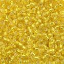 Picture of Yellow Silverlined Seed Beads Color #6 / Size #11<br />Approximately ~        25 Grams