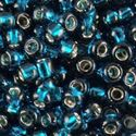 Picture of Size 11 Japanese Seed Beads, Silverlined Dark Teal (#17B), ~ Approximately 25 Grams