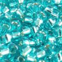 Picture of Size 11 Japanese Seed Beads, Silverlined Green Aqua (#17C), ~ Approximately 25 Grams