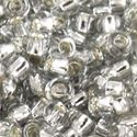 Picture of Size 11 Japanese Seed Beads, Silverlined Soft Grey (#21A), ~ Approximately 25 Grams