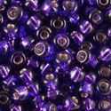 Picture of Silverlined Purple Sapphire Seed Beads Color #30 / Size #11<br ~        />Approximately 25 Grams