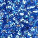 Picture of Silverlined Aqua Blue Seed Beads Color #33 / Size #11<br ~        />Approximately 25 Grams