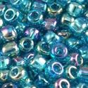Picture of Colorlined Dark Teal AB Seed Beads #259B / Size #11<br ~        />Approximately 25 Grams