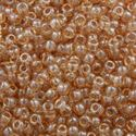 Picture of Gold Lustre Pale Topaz High Lustre Seed Bead #325 / Size 11<br ~        />Approximately 25 Grams