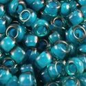 Picture of Emerald Colorlined Emerald Seed Bead #327P / Size 11<br ~        />Approximately 25 Grams