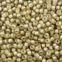 Picture of Beige Colorlined Light Beige Seed Bead #329 / Size 11<br ~        />Approximately 25 Grams