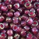 Picture of Amethyst Colorlined Magenta AB Seed Bead #356E / Size 11<br ~        />Approximately 25 Grams