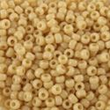 Picture of Opaque Eggshell Seed Bead #403D / Size 11<br />Approximately 25 ~        Grams